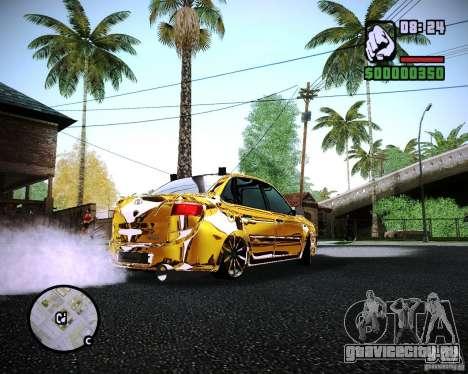 Lada Granta - ВАЗ 2190 GOLD для GTA San Andreas вид сзади слева