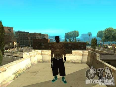 Varrios Los Aztecas Gang Skins для GTA San Andreas второй скриншот