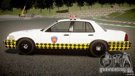 Ford Crown Victoria Karachi Traffic Police для GTA 4 вид слева