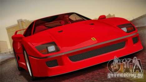 Ferrari F40 1987 для GTA San Andreas вид сверху