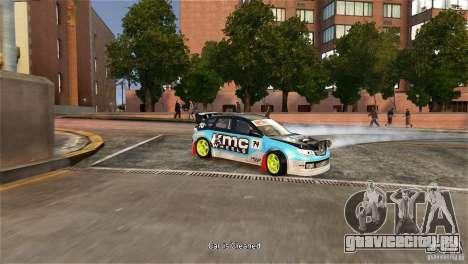 Subaru Impreza WRX STI Rallycross KMC Wheels для GTA 4 вид справа