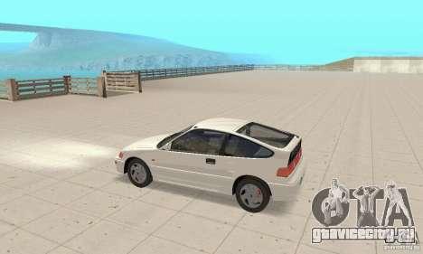 HONDA CRX II 1989-92 для GTA San Andreas вид сзади слева