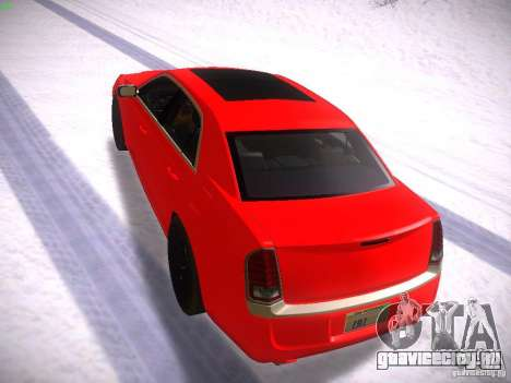 Chrysler 300C SRT8 2011 для GTA San Andreas вид сзади слева