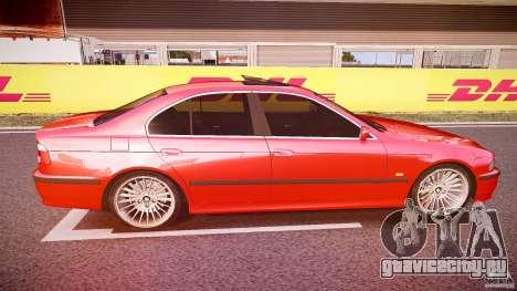 BMW 530I E39 stock chrome wheels для GTA 4 вид изнутри
