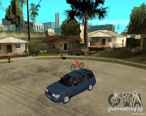 ВАЗ 2111 для GTA San Andreas вид изнутри