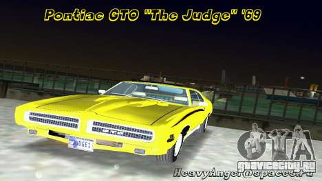 Pontiac GTO The Judge 1969 для GTA Vice City