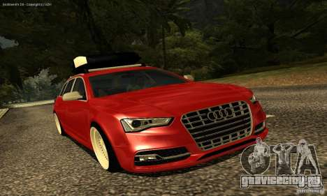 Audi A6 Avant Stanced для GTA San Andreas вид сбоку