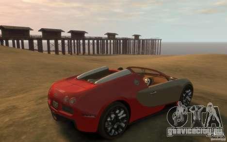 2009 Bugatti Veyron Grand Sport [EPM] для GTA 4 вид справа