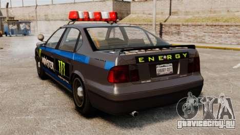 Полиция Monster Energy для GTA 4 вид справа