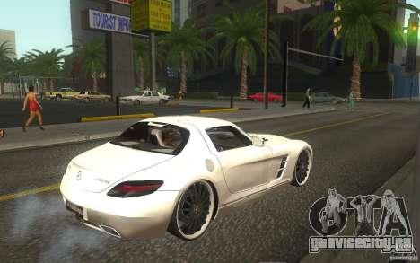 Mercedes Benz SLS HAMANN для GTA San Andreas вид справа