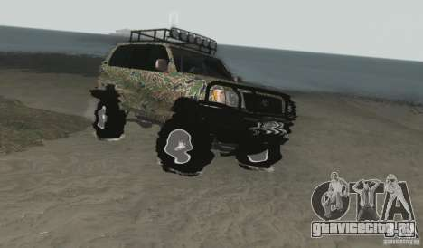 Toyota Land Cruiser 100 Off Road для GTA San Andreas вид справа