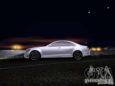 Mercedes-Benz S65 AMG V2.0 для GTA San Andreas вид сзади слева