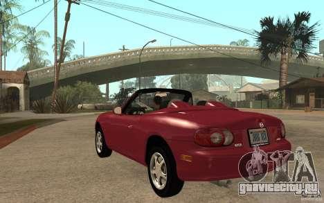 Mazda MX5 - Stock для GTA San Andreas вид сзади слева