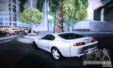 Toyota Supra Tuneable для GTA San Andreas вид слева