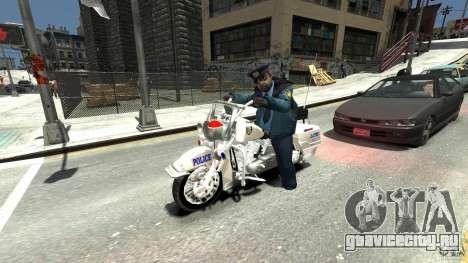 Police Bike для GTA 4 вид сзади