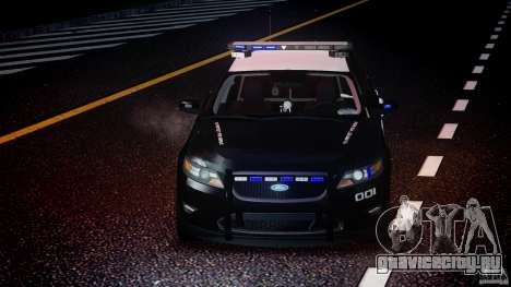 Ford Taurus Police Interceptor 2011 [ELS] для GTA 4 вид снизу