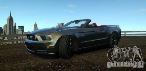 Ford Mustang GT Convertible 2013 для GTA 4