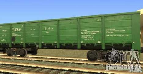 Полувагон 53110664 для GTA San Andreas вид слева