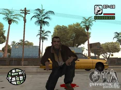 Niko Bellic для GTA San Andreas десятый скриншот