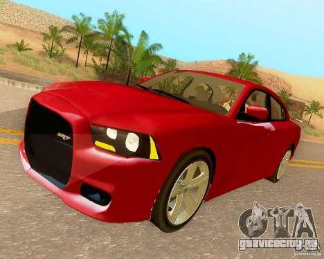 Dodge Charger SRT8 2012 для GTA San Andreas вид изнутри