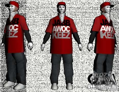 JabbaWockeeZ Skin для GTA San Andreas