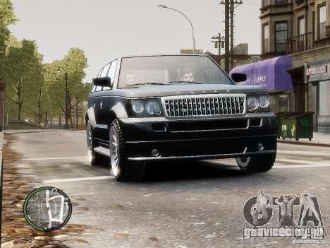 Land Rover SPORT 4.2L для GTA 4 вид сзади слева