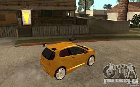 Fiat Grande Punto Tuning для GTA San Andreas вид справа