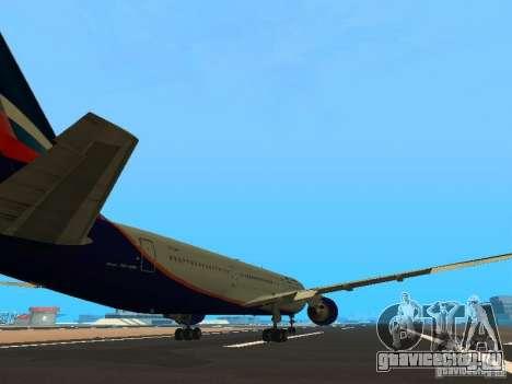 Boeing 767-300 Aeroflot для GTA San Andreas вид справа