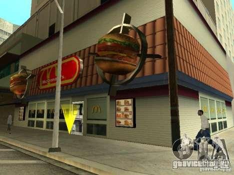 Mc Donalds для GTA San Andreas восьмой скриншот