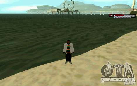 Ямайский  HD Skin для GTA San Andreas пятый скриншот