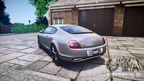 Bentley Continental SuperSports 2010 [EPM] для GTA 4 вид сзади слева