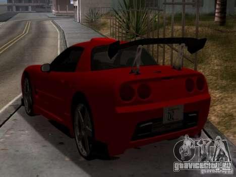 Chevrolet Corvette C5 для GTA San Andreas вид сзади слева