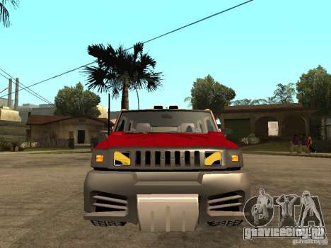 Hummer H2 NFS Unerground 2 для GTA San Andreas вид справа