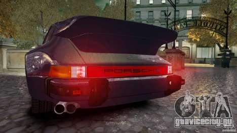 Porsche 911 1987 для GTA 4 вид сзади слева