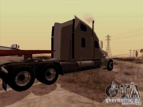 Freightliner Coronado для GTA San Andreas вид сзади слева