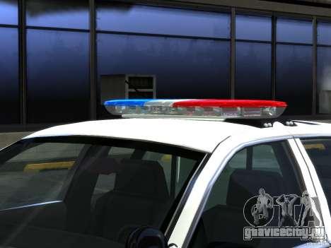 Ford Crown Victoria LAPD [ELS] для GTA 4 вид изнутри