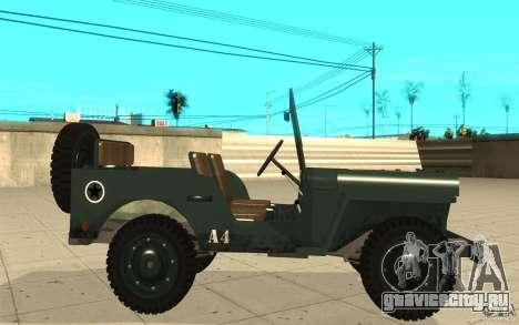 Willys MB для GTA San Andreas вид слева