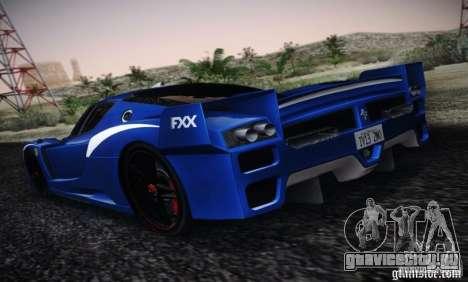 Ferrari FXX Evoluzione для GTA San Andreas вид слева