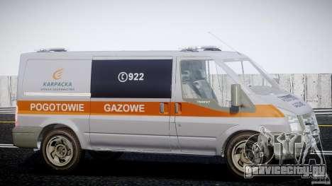 Ford Transit Usluga polski gazu [ELS] для GTA 4 вид сзади
