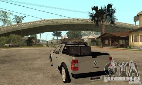 Volkswagen Saveiro G5 для GTA San Andreas вид сзади слева