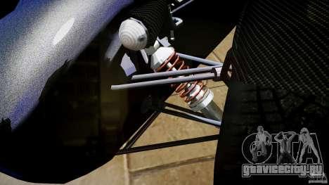 Caterham 7 Superlight R500 для GTA 4 вид изнутри