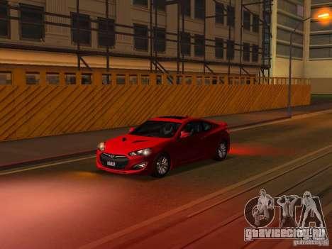 Hyundai Genesis Coupé 3.8 Track V1.0 для GTA San Andreas колёса