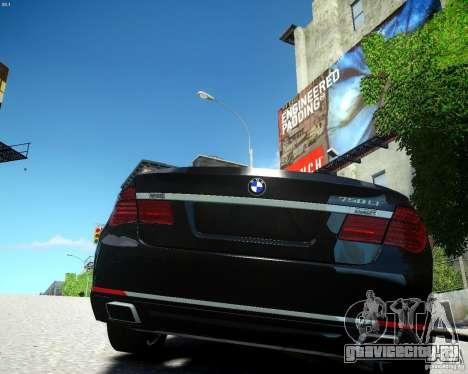 BMW 750Li 2013 для GTA 4 вид сзади слева
