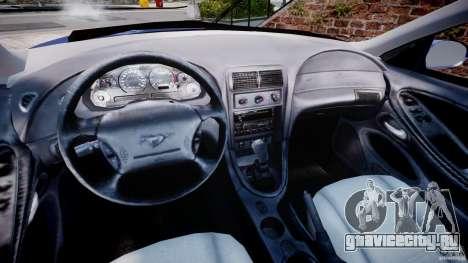 Ford Mustang SVT Cobra v1.0 для GTA 4 вид сзади