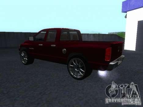 Dodge Ram 1500 v2 для GTA San Andreas вид сзади слева