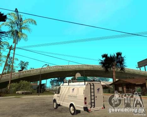 Газель 2705 Новости Первого Канала для GTA San Andreas вид слева