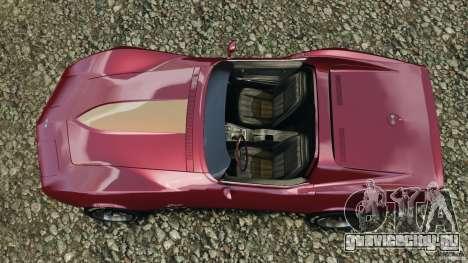 Chevrolet Corvette Sting Ray 1970 Custom для GTA 4 вид справа