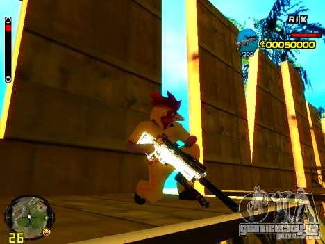 White Chrome Guns для GTA San Andreas пятый скриншот