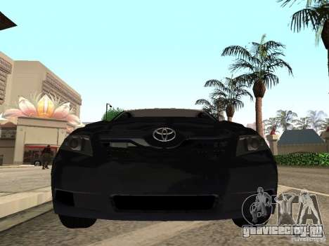 Toyota Camry 2010 для GTA San Andreas вид сзади слева