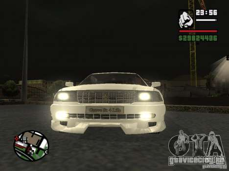 Toyota Crown Tunable для GTA San Andreas вид сзади слева